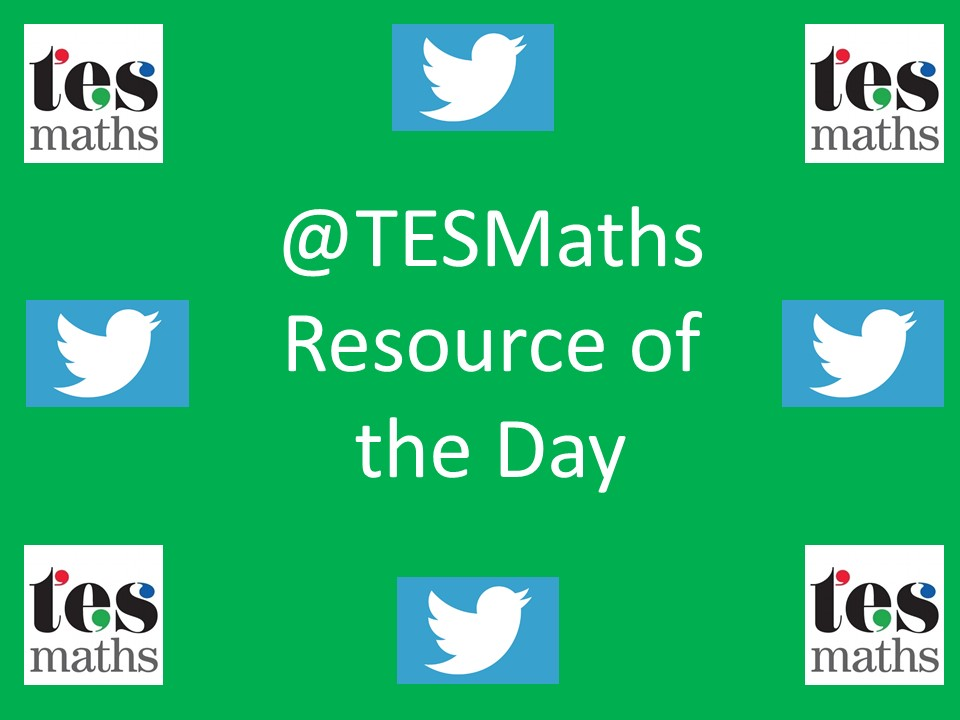 @TESMaths Resource of the Day: 17th to 30th August 2015