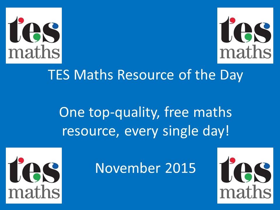 TESMaths ROTD: November