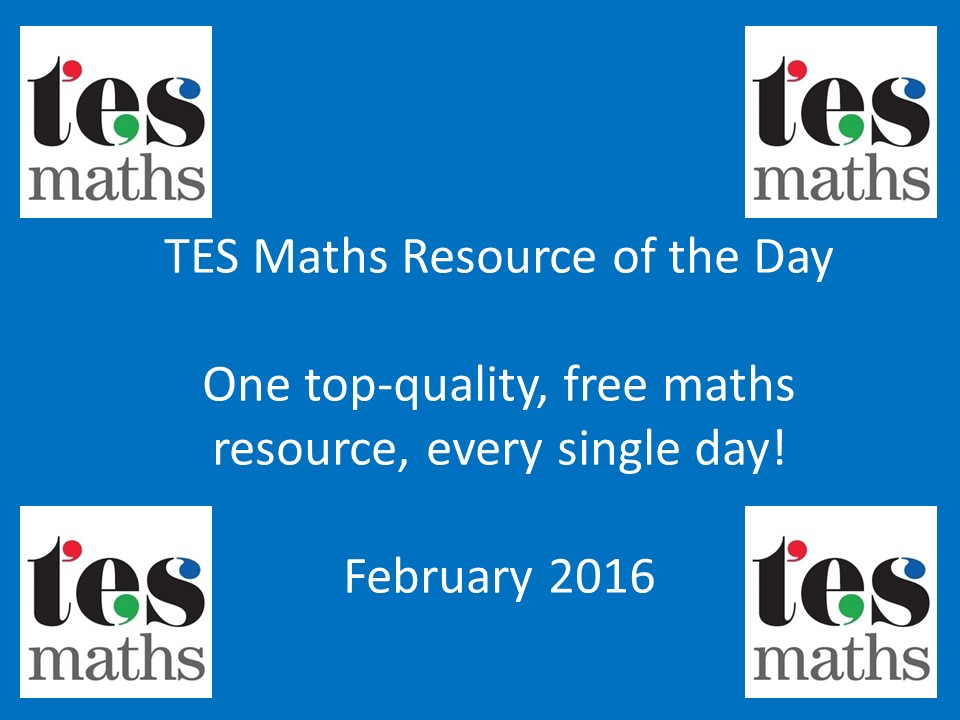 TES Maths ROTD: February 2016