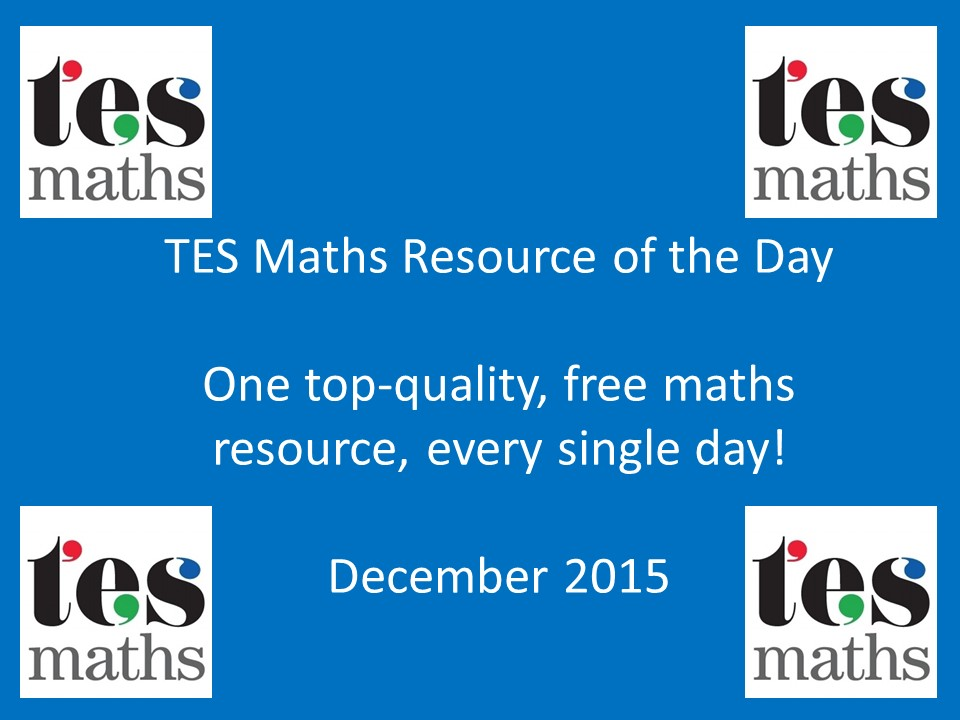 TES Maths ROTD: December 2015