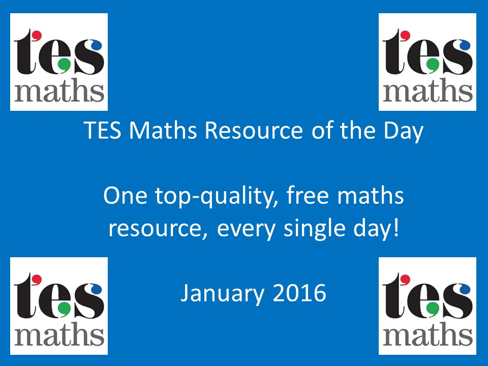 TES Maths ROTD: January 2016