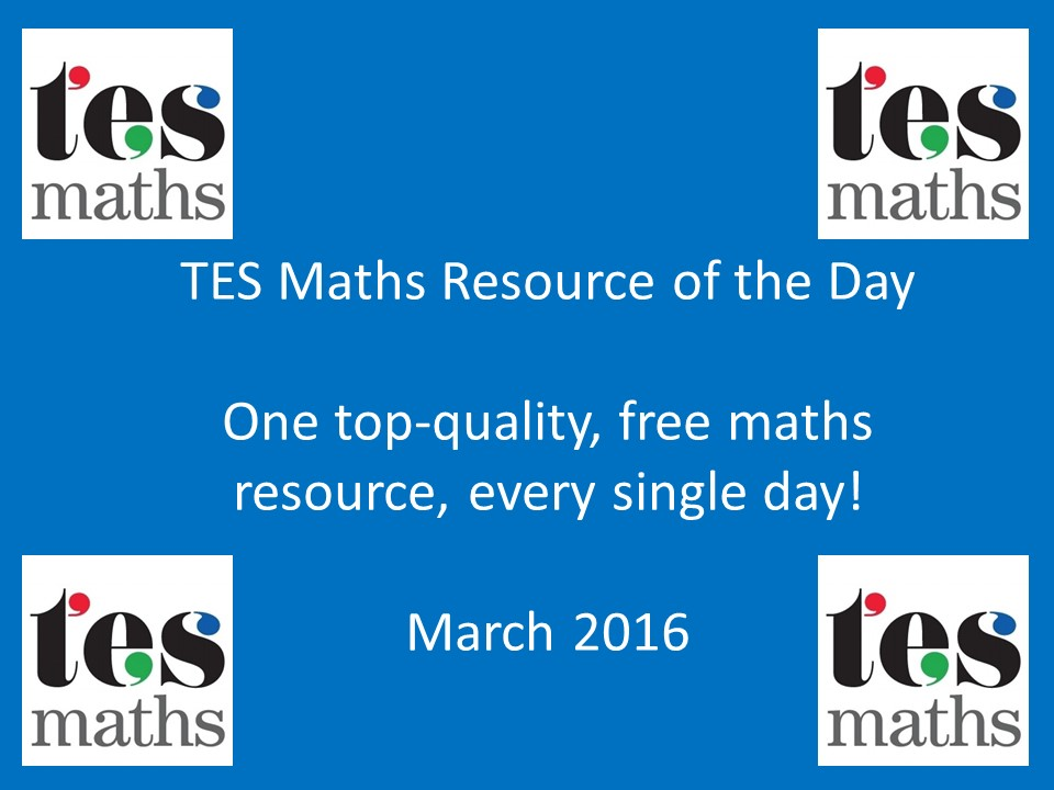 TES Maths ROTD: March 2016