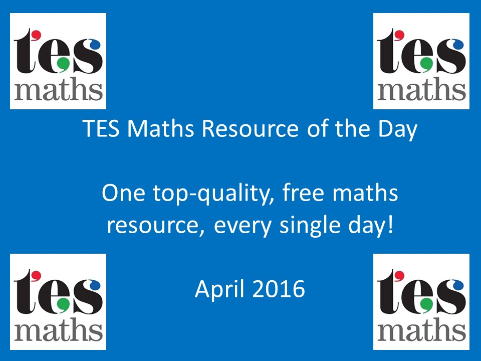 TES Maths ROTD: April 2016