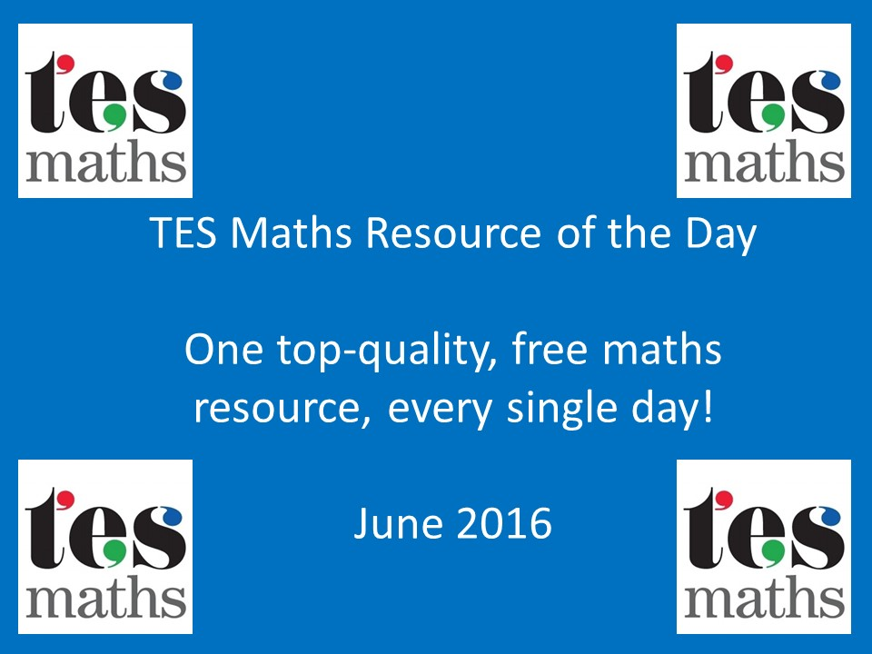 TES Maths ROTD: June 2016