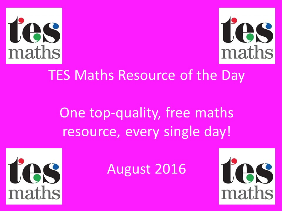 TES Maths ROTD: August 2016