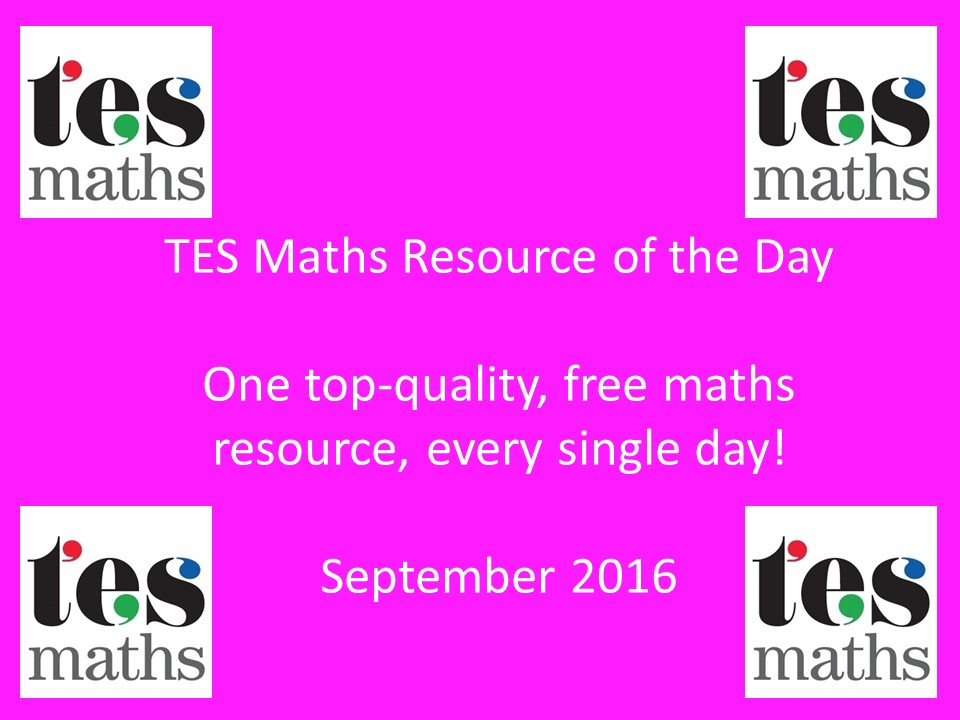 TES Maths ROTD: September 2016