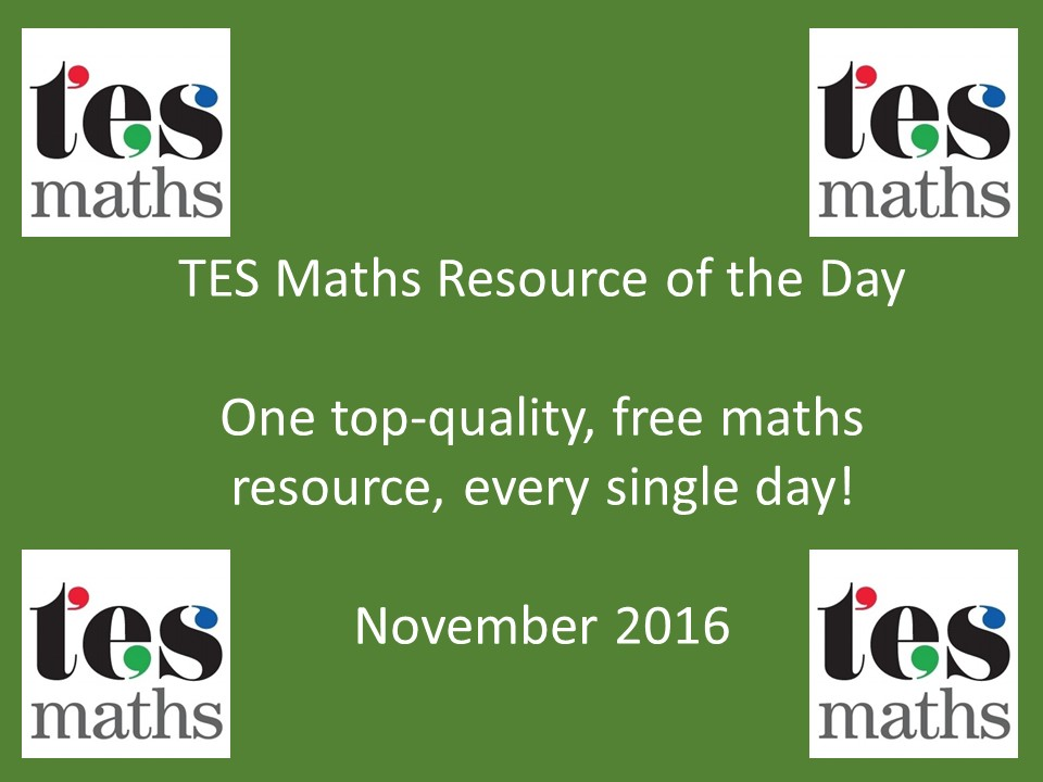 TES Maths ROTD: November 2016
