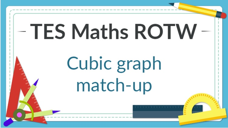 Cubic Graph Match Up Tes Maths Resource Of The Week Mr Barton