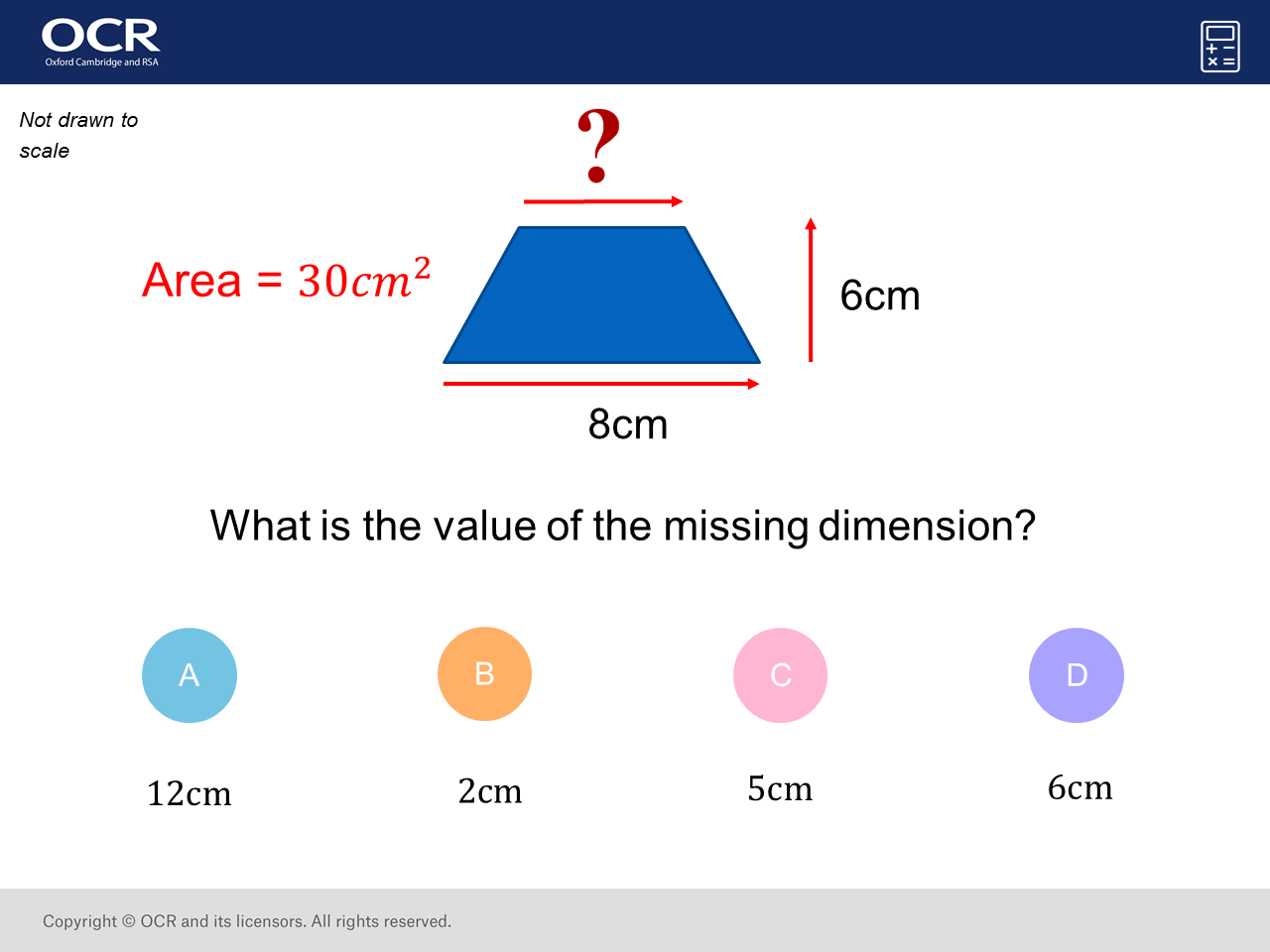 Area of a Trapezium: GCSE Maths Question of the Week (Foundation/Higher)