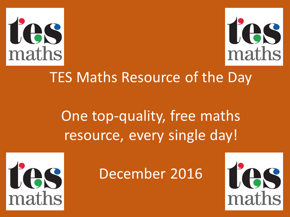 TES Maths ROTD: December 2016