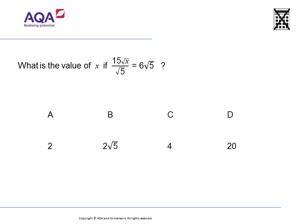 Solving Equations With Surds Gcse Maths Question Of The Week