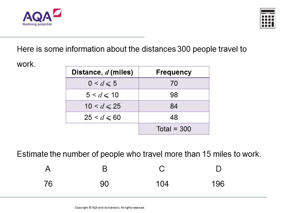 Interpreting Grouped Data: GCSE Maths Question of the Week
