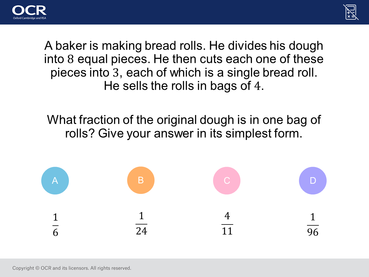 Fraction Application Problem: GCSE Maths Question of the Week
