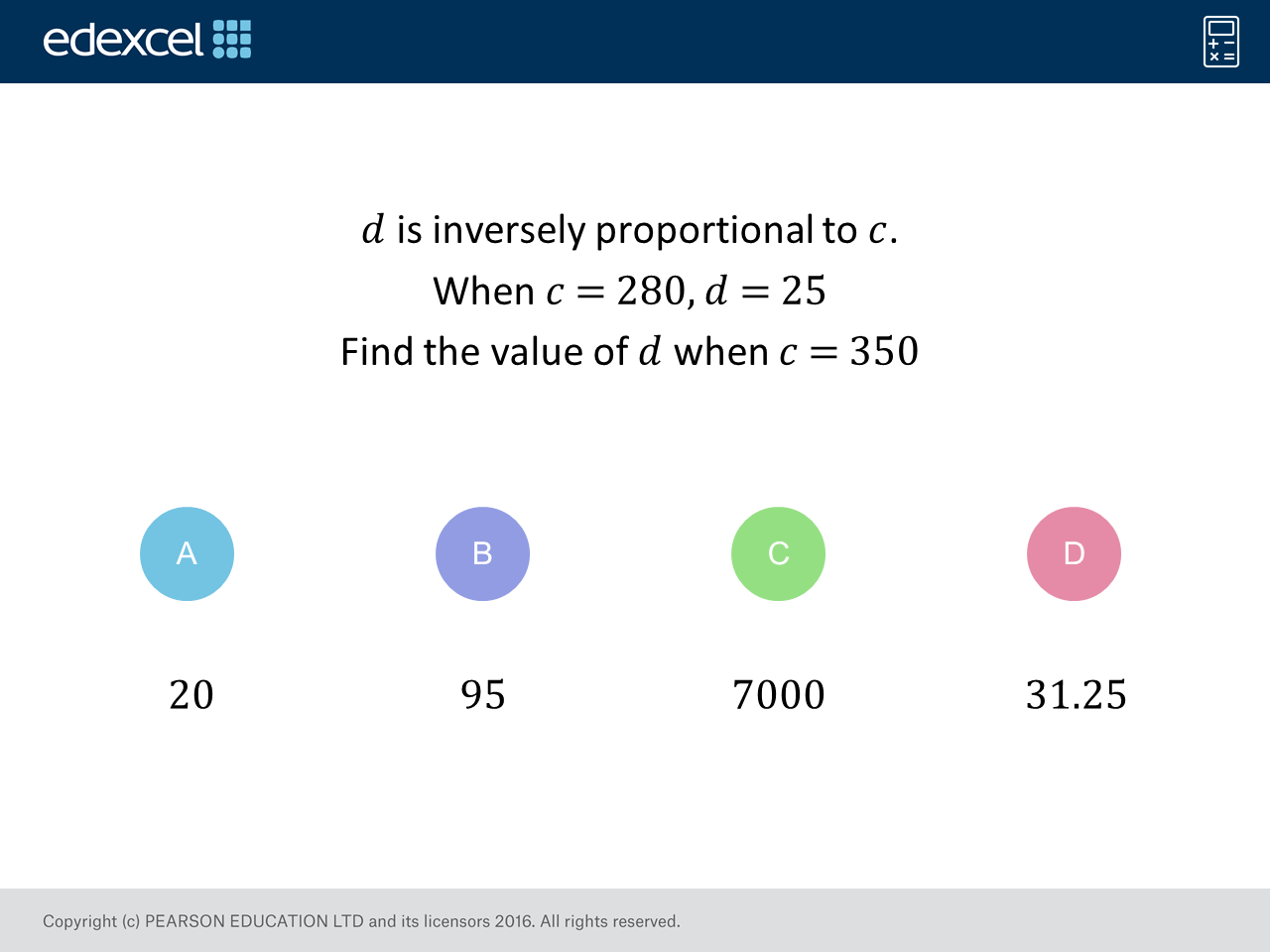 Inverse Proportion: GCSE Maths Question of the Week