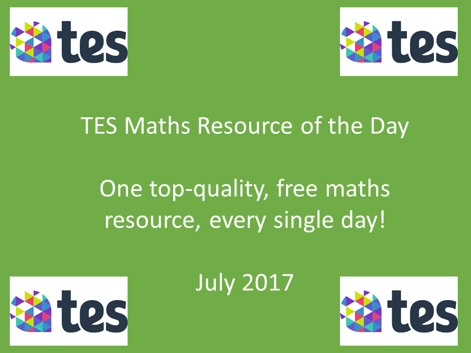 TES Maths Resource of the Day: July 2017
