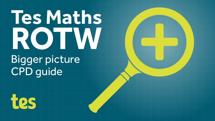 Teach for Understanding Bigger Picture: TES Maths Resource of the Week