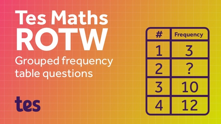 Mean from a Frequency Table Generator: TES Maths Resource of the Week