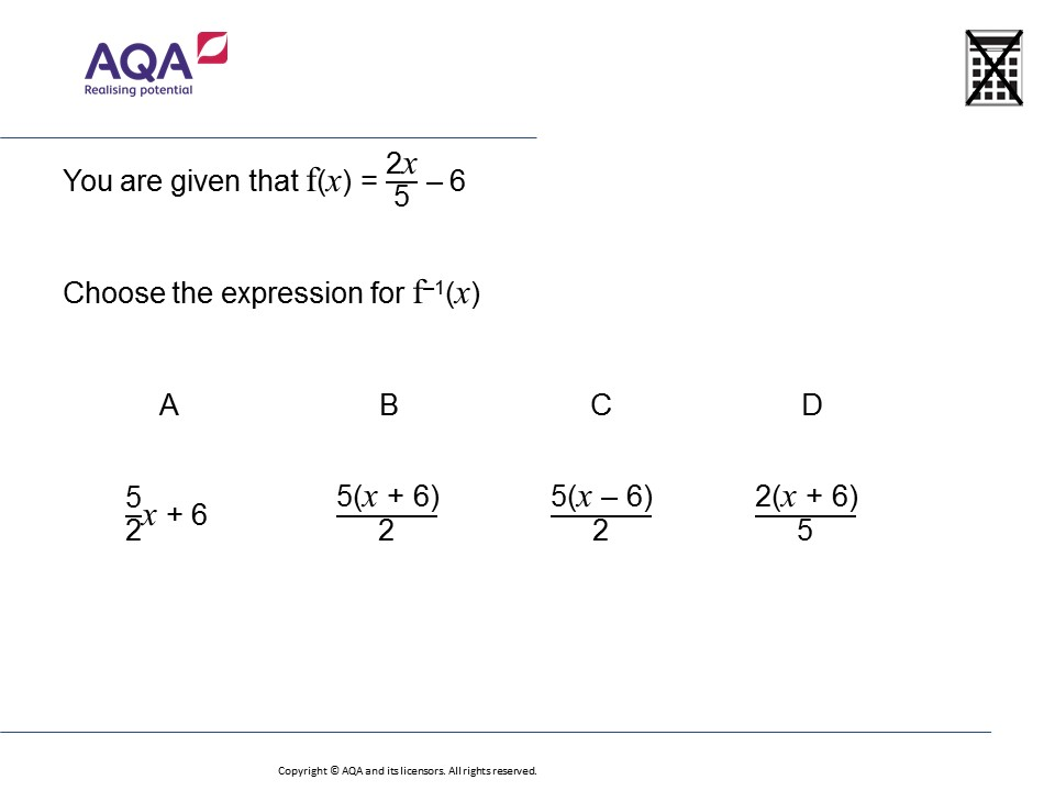 Inverse Functions Higher Gcse Maths Question Of The Week On Mr