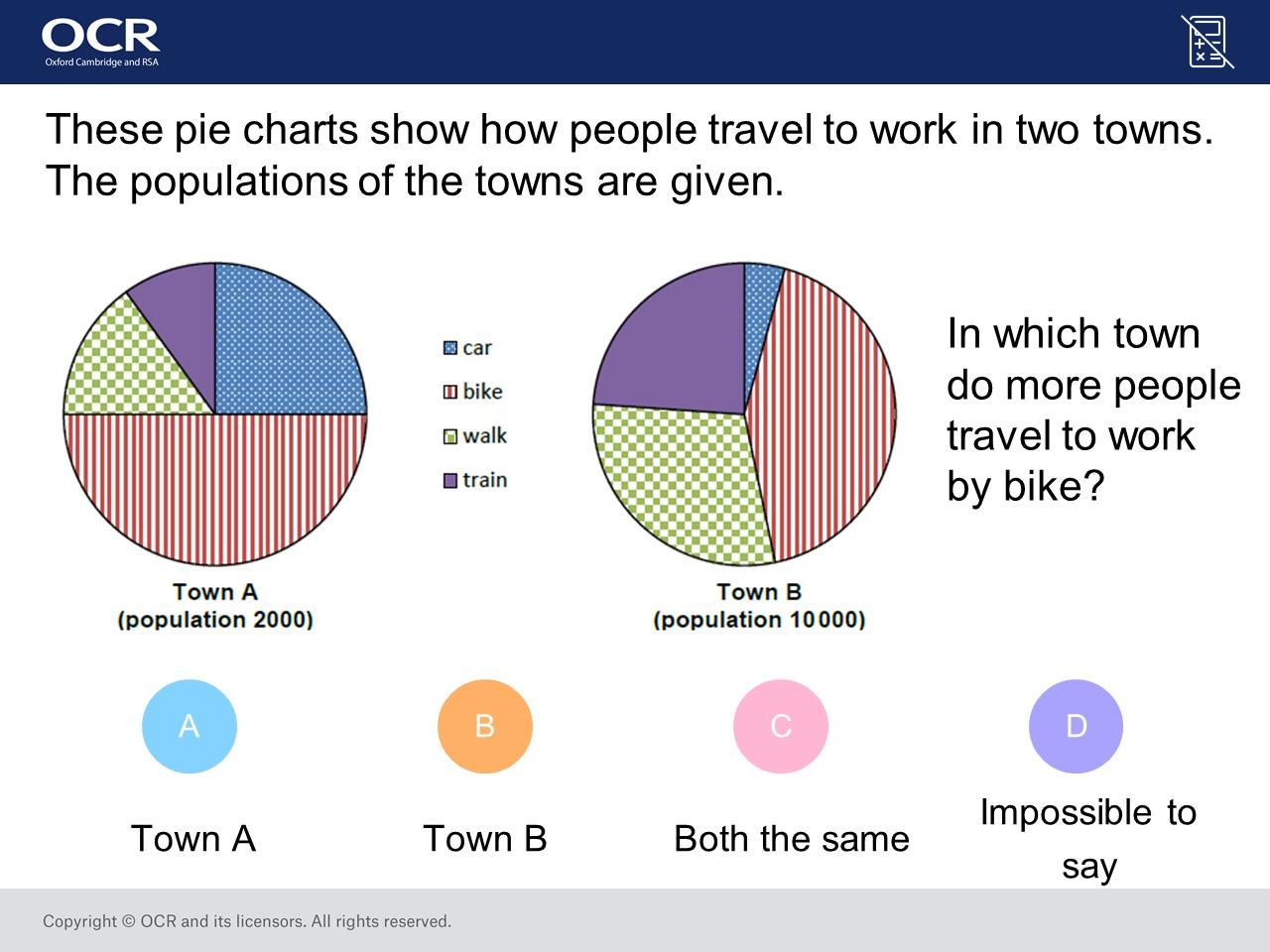 Intepreting Pie Charts Foundationhigher Gcse Maths Question Of