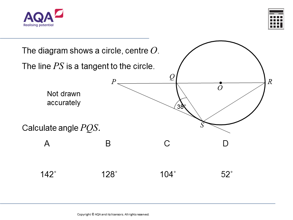 Circle Theorems (Higher): GCSE Maths Question of the Week on