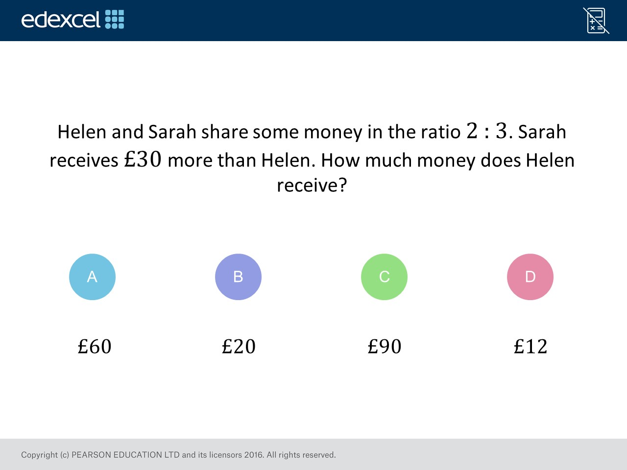 Sharing In A Ratio Foundationhigher Gcse Maths Question Of The
